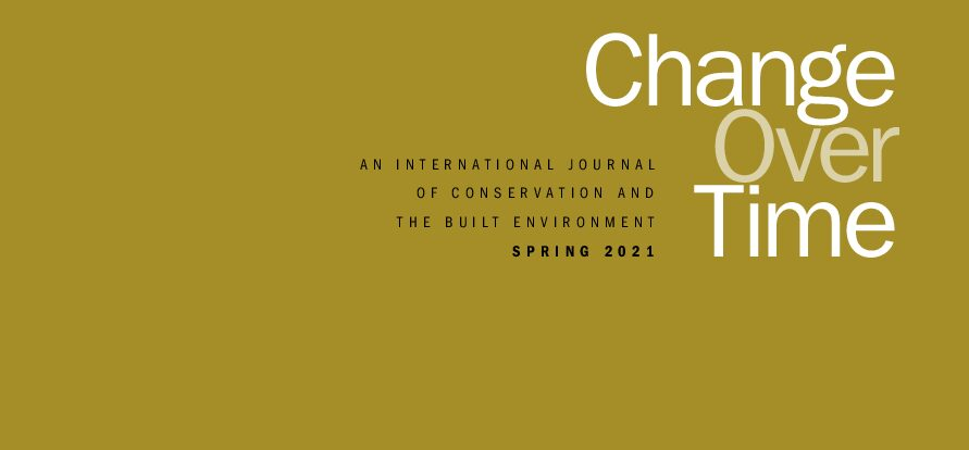 CHANGE OVER TIME ANNOUNCES THE LAUNCH OF ISSUE 10.1 CONSERVATION: DISCIPLINE & PROFESSION