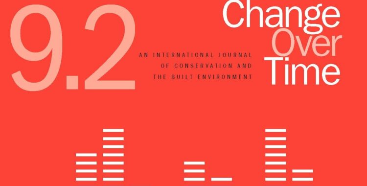 CHANGE OVER TIME ANNOUNCES THE LAUNCH OF ISSUE 9.2 SOUNDING HERITAGE